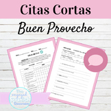 Spanish Food and Eating Habits Citas Cortas Speaking Activity