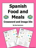 Spanish Food and Meals Crossword Puzzle, Vocabulary, and Image IDs