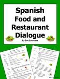 Spanish Food and Restaurant Skit / Dialogue / Role Play