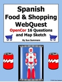 Spanish Food and Shopping WebQuest OpenCor 18 Questions and Sketch