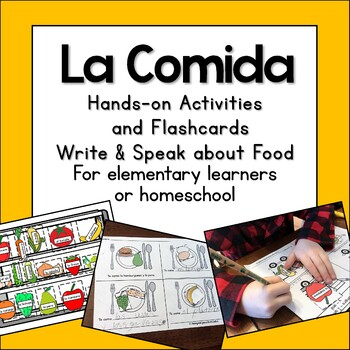 Spanish Food interactive activities no prep lesson la comida elementary