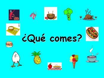 Spanish Teaching Resources. Food Types Powerpoint Presentation