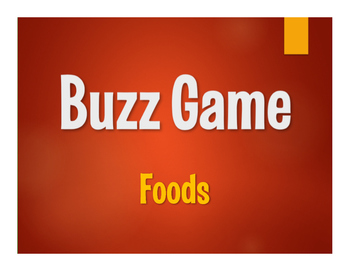 Spanish Foods Buzz Game