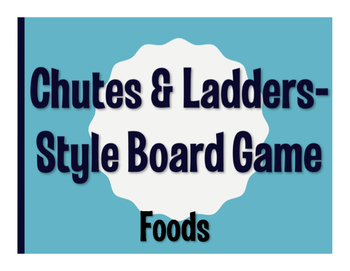 Spanish Foods Chutes and Ladders-Style Game
