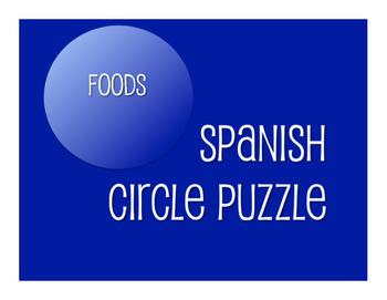 Spanish Foods Circle Puzzle