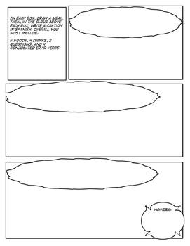 Spanish Foods Comic Strip