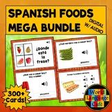 Spanish Foods, Drinks Boom Cards, Spanish Digital Flashcards, All Foods Bundle