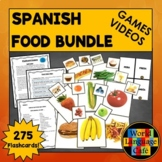 Spanish Foods Flashcards, Activities, Games