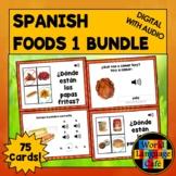 Spanish Foods Boom Cards Set #1, Spanish Digital Flashcard