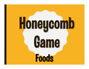 Spanish Foods Honeycomb Game