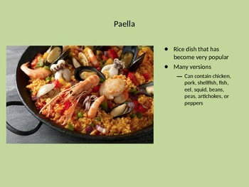 Spanish Foods PowerPoint
