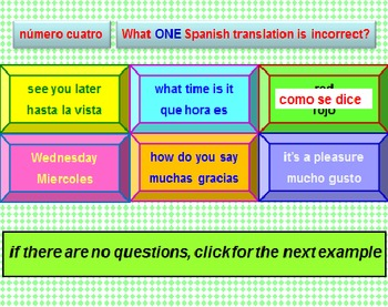 Spanish For Beginners Powerpoint Lesson (Revised)