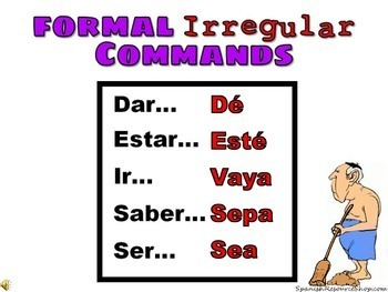 Spanish Commands Formal Grammar Notes and Practice Powerpoint BUNDLE
