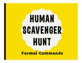 Spanish Formal Commands Human Scavenger Hunt