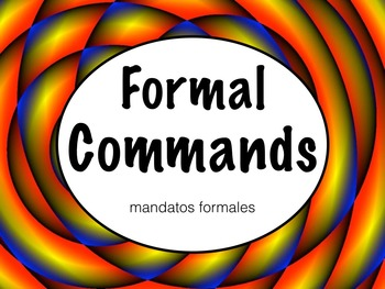 Spanish Formal Commands Keynote Slideshow Presentation