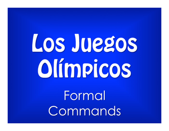 Spanish Formal Commands Olympics