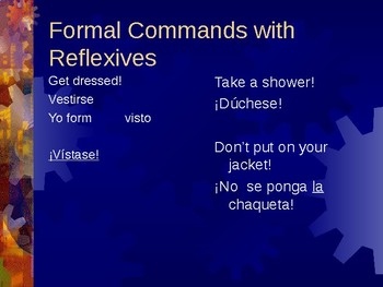 Spanish Formal Commands Power Point