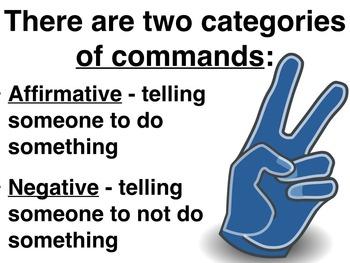 Spanish Formal Commands PowerPoint Slideshow Presentation