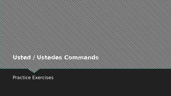 Spanish Formal Commands Practice Exercises