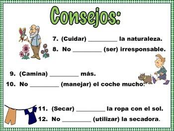 Spanish Formal Commands Practice EN LA VIDA RESPONSABLE