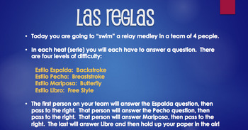 Spanish Formal Commands Relay Race