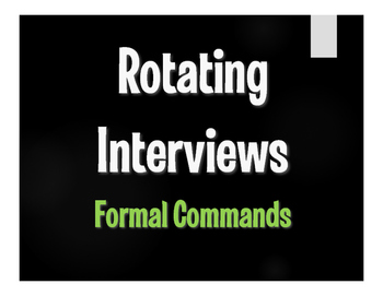 Spanish Formal Commands Rotating Interviews