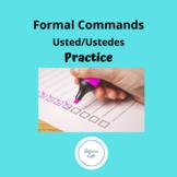 Spanish Formal Usted Ustedes Command Homework Worksheet Practice