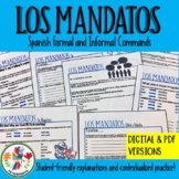 Spanish Formal and Informal Commands Packet