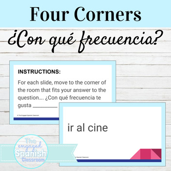 Spanish Four Corners Activity for -AR verbs and Frecuency