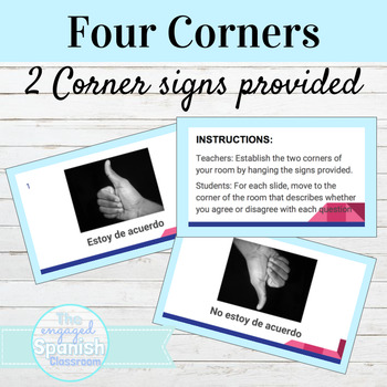 Spanish Adverbs Four Corners Activity