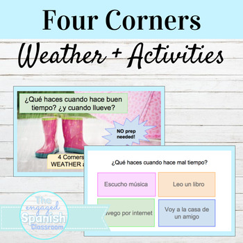 Spanish Four Corners Activity for Weather and Activities: