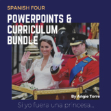 Spanish Four PowerPoints and Curriculum Bundle