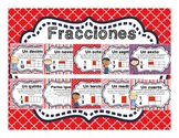 Spanish Fractions Educational Posters and Task Cards / Fra