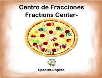 Spanish Math Fractions / Fracciones in a Station / Center