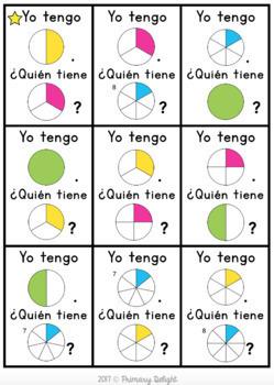 Spanish Fractions Game Bundle: Yo tengo.... ¿Quién tiene...?