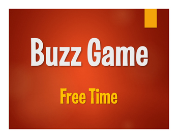 Spanish Free Time Buzz Game