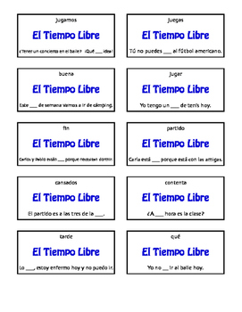 Spanish Free Time Circle Puzzle