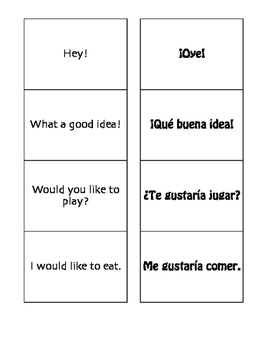 Spanish Free Time Matching Game