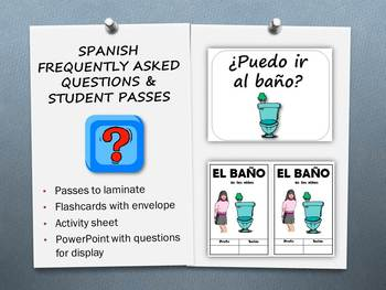 Spanish Frequently Used Questions and Passes