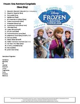Spanish Frozen Listening Comprehension Activity