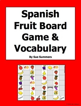 Spanish Food - Fruit Board Game and Vocabulary