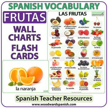 Spanish Fruit Charts / Flash Cards