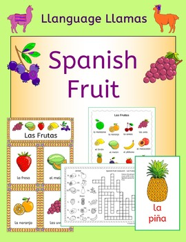 Spanish Fruit Vocabulary - Las Frutas - handouts, games, activities
