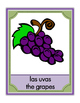 Spanish Fruits- Posters, Four Corners Game, Student Printables, Flash Cards