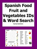 Spanish Fruits and Vegetables Word Search and Picture IDs - Spanish Food