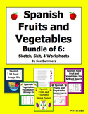 Spanish Fruits and Vegetables Bundle of 6 Items