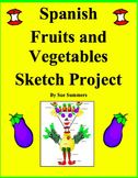 Spanish Food Fruits and Vegetables Sketch Project