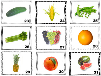 Spanish Fruits and Vegetables Speaking and Writing Activities (Caramba Cards)