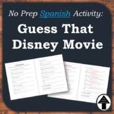 "Spanish Fun Activity / Sub Plan: ""Guess that Disney Movie"" ""Que Pelicula Es"""