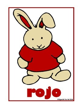 Spanish Fun Bunny Color Cards
